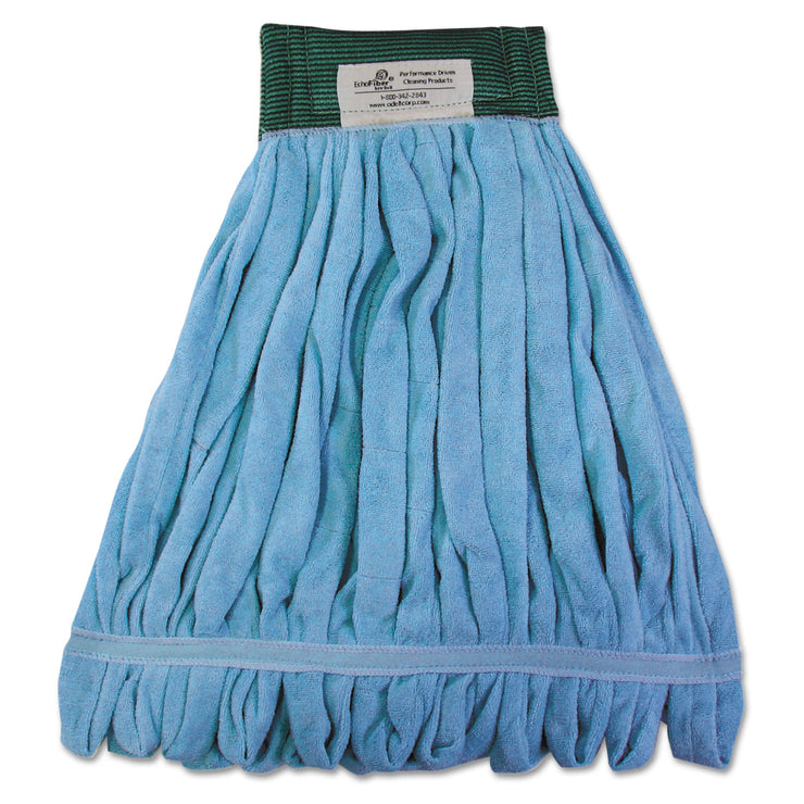 Boardwalk Microfiber Looped-End Wet Mop Heads, Medium, Blue, 12/Carton, 12/Carton