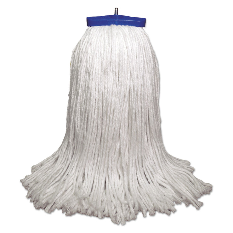 Boardwalk Mop Head, Economical Lie-Flat Head, Rayon Fiber, 32-Oz., White, 12/Carton