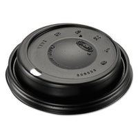 Dart Cappuccino Dome Sipper Lids, Black, Plastic, 100/Pack, 10 Packs/Carton
