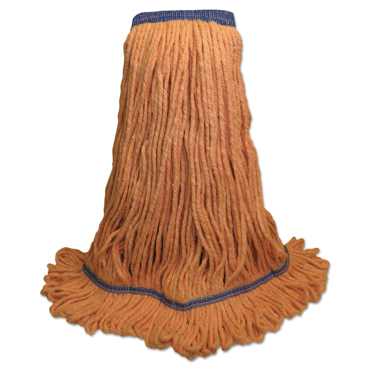 Boardwalk Mop Head, Super Loop Head, Cotton/Synthetic Fiber, X-Large, Green, 12/Carton