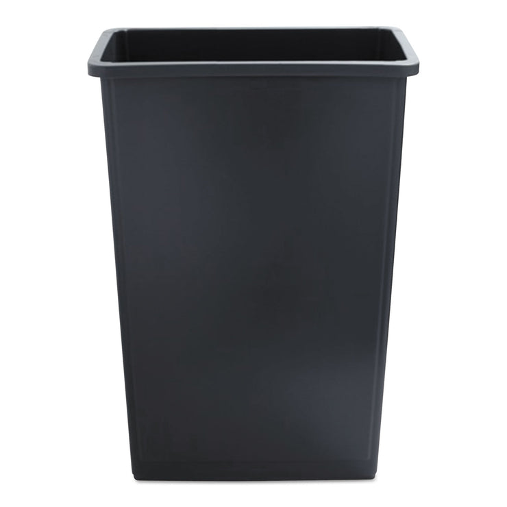 Boardwalk Slim Jim Waste Container, 23 Gal, Gray, Plastic