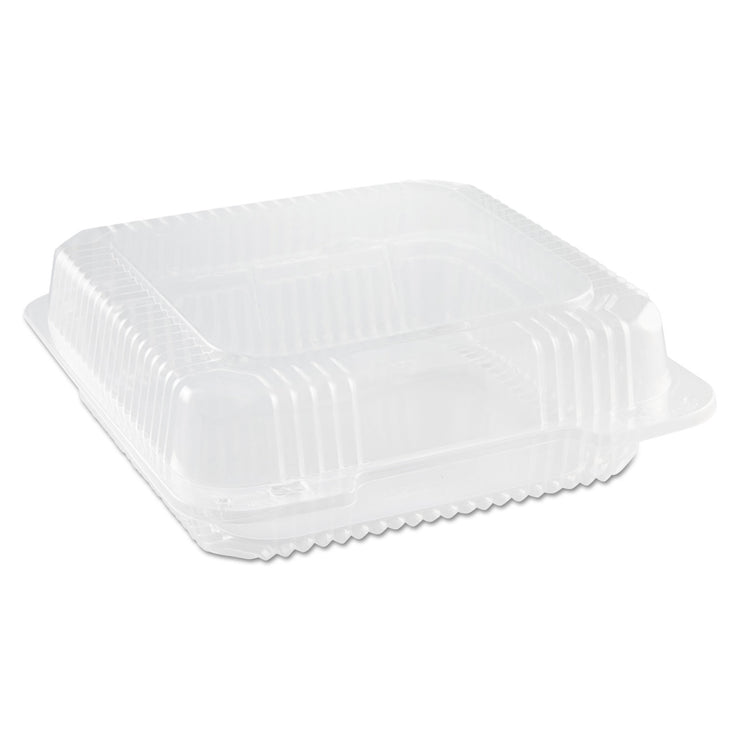 Dart Staylock Clear Hinged Container, Plastic, 9 X 3 X 8 3/5, Clear, 100/PK, 2 PK/CT