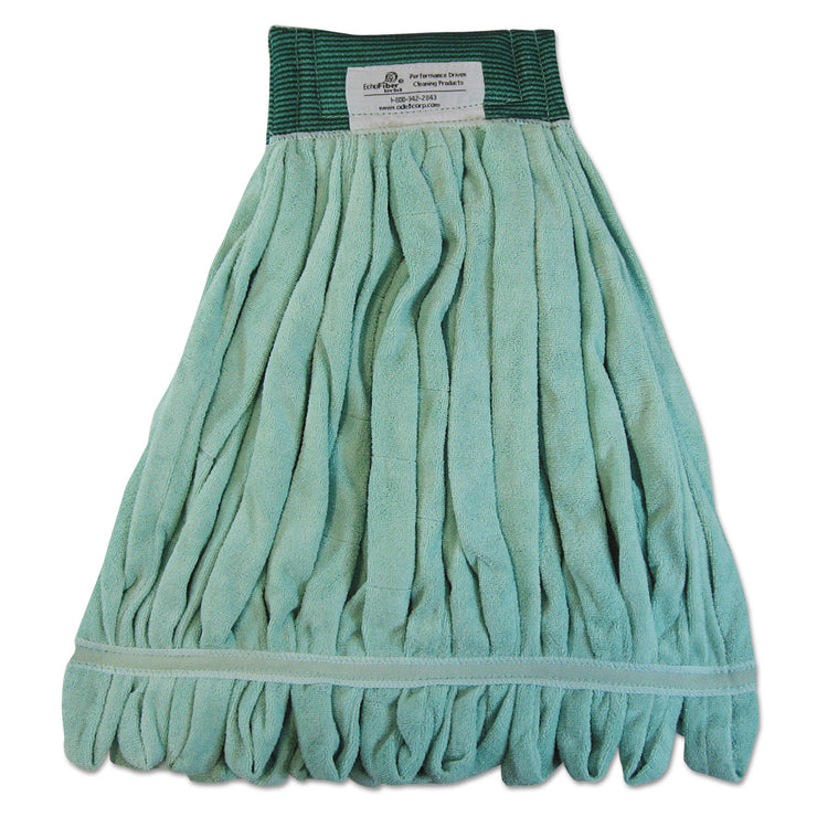 Boardwalk Microfiber Looped-End Wet Mop Heads, Medium, Green, 12/Carton