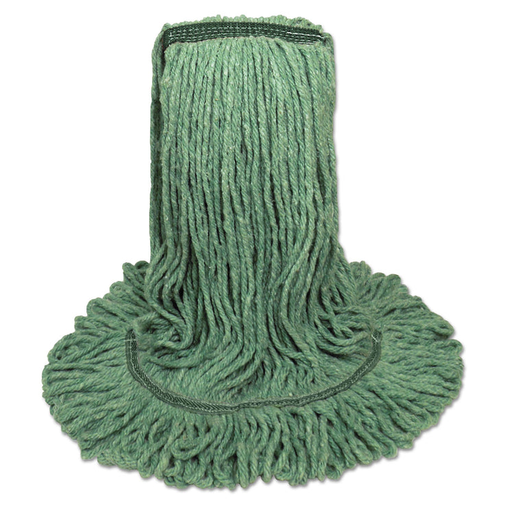 Boardwalk Mop Head, Premium Standard Head, Cotton/Rayon Fiber, Medium, Green