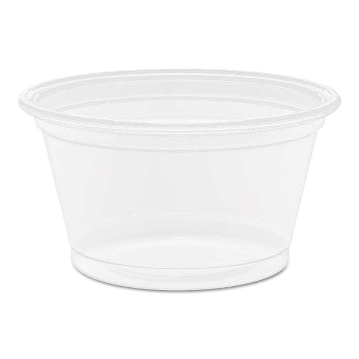 Dart Conex Complements Translucent Portion Container, .75oz, Round, 125/PK, 20 PK/CT