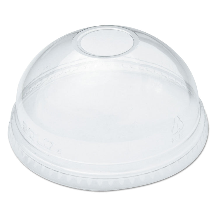 Dart Ultra Clear Dome Cold Cup Lids f/16-24 oz Cups, PET, 100/Pack