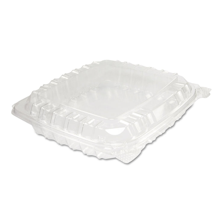 Dart ClearSeal Plastic Hinged Container, 8-5/16 x 8-5/16 x 2, Clear, 125/BG, 2 BG/CT