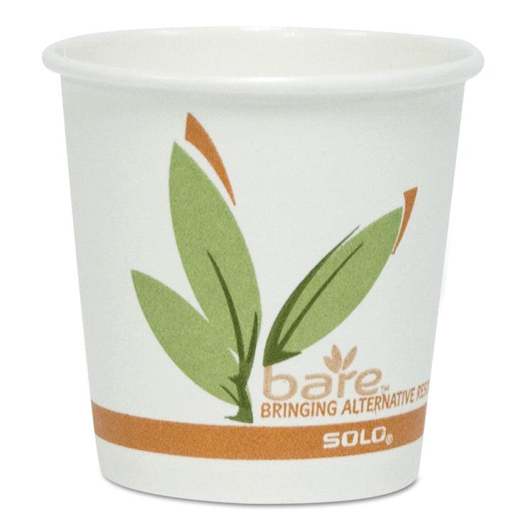 Dart Bare by Solo Eco-Forward Recycled Content PCF Paper Hot Cups, 8 oz, 1,000/Carton