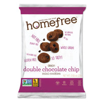 Homefree Gluten Free Double Chocolate Chip Mini Cookies, 0.95 oz Pack, 30/Carton
