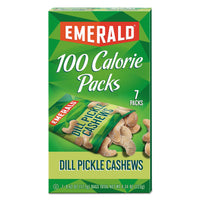 Emerald 100 Calorie Pack Nuts, Dill Pickle Cashews, 0.62 oz Pack, 7 Packs/Box