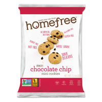 Homefree Gluten Free Chocolate Chip Mini Cookies, 1.1 oz Pack, 30/Carton