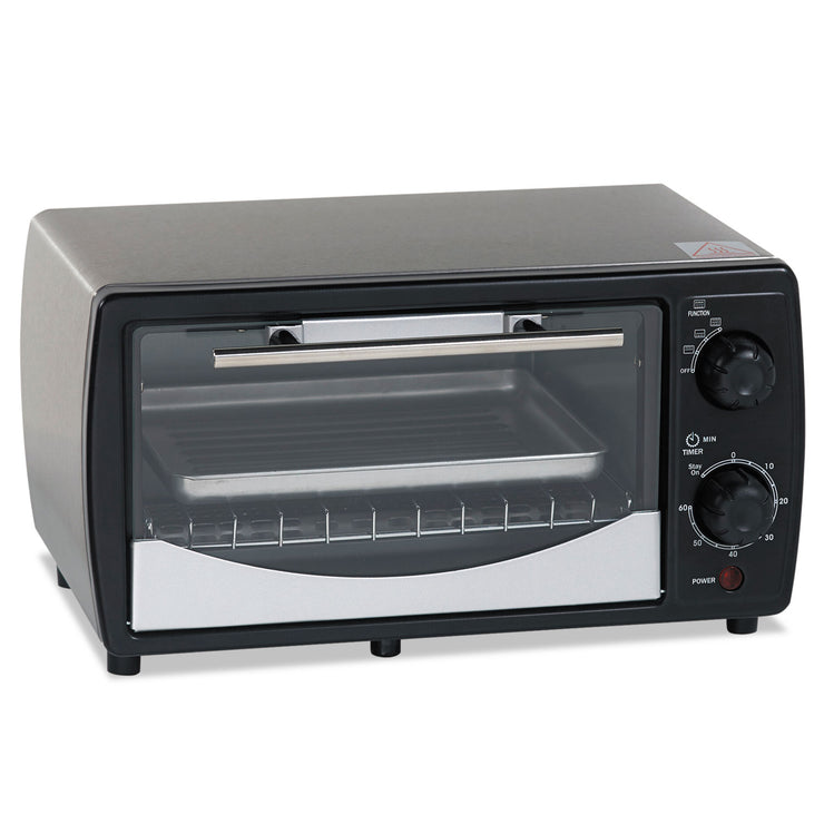 Avanti Toaster Oven, 0.32 cu ft Capacity, Stainless Steel/Black, 14 1/2 x 11 1/2 x 8