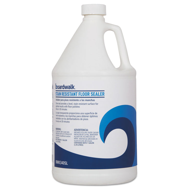 Boardwalk Stain Resistant Floor Sealer, 1 gal Bottle, 4/Carton