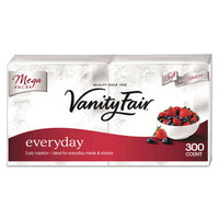 Vanity Fair Vanity Fair Everyday Dinner Napkins, 2-Ply, White, 300/Pack