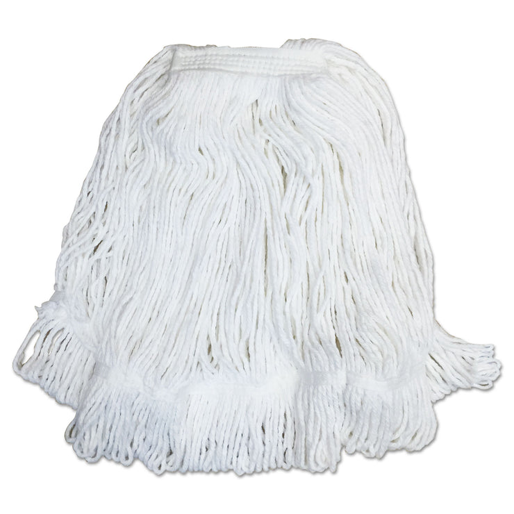 Boardwalk Pro Loop Web/Tailband Mop Head, White, #32, Rayon, 1.3
