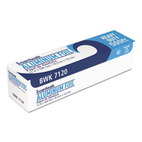 "Boardwalk Heavy-Duty Aluminum Foil Roll, 12"" x 500ft, 20 Micron Thickness, Silver"