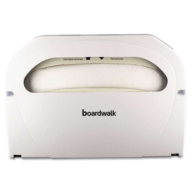 Boardwalk Wall-Mount Toilet Seat Cover Dispenser, Plastic, White