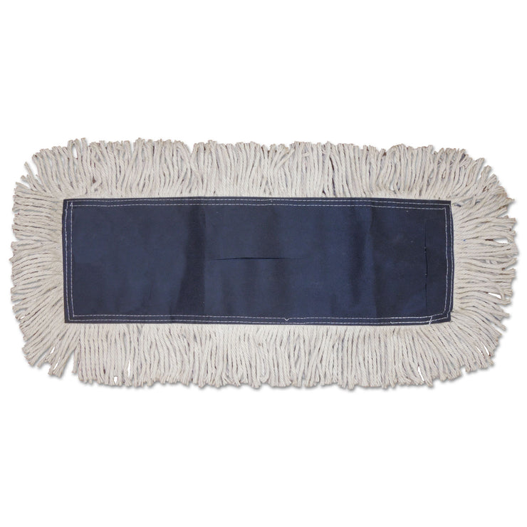 Boardwalk Disposable Dust Mop Head, Cotton, Cut-End, 60w x 5d