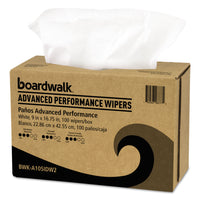 Boardwalk Sontara Wipers, White, 9 x 16 3/4, 10 Pack Dispensers of 100, 1000/Carto n