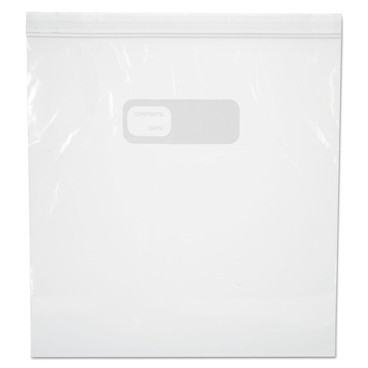 Boardwalk Reclosable Freezer Storage Bags, 1 Gal, Clear, LDPE, 2.7 mil, 10.56 x 11, 250/BX