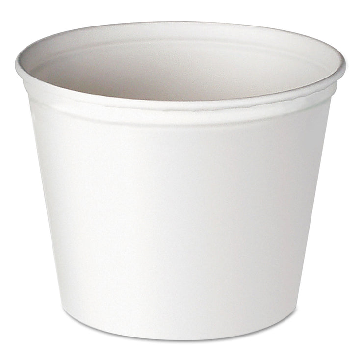 Dart Double Wrapped Paper Bucket, Waxed, White, 83oz, 100/carton