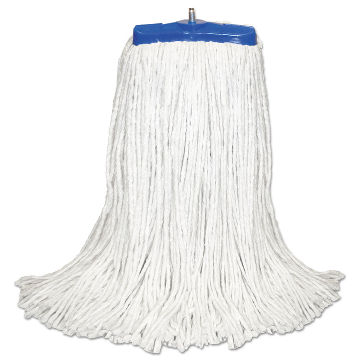 Boardwalk Cut-End Lie-Flat Mop Head, Rayon, 16oz, White, 12/Carton