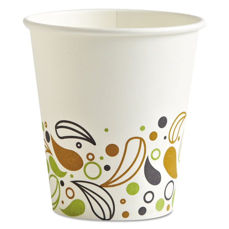 Boardwalk Deerfield Printed Paper Hot Cups, 10 oz, 50 Cups/Pack, 20 Packs/Carton