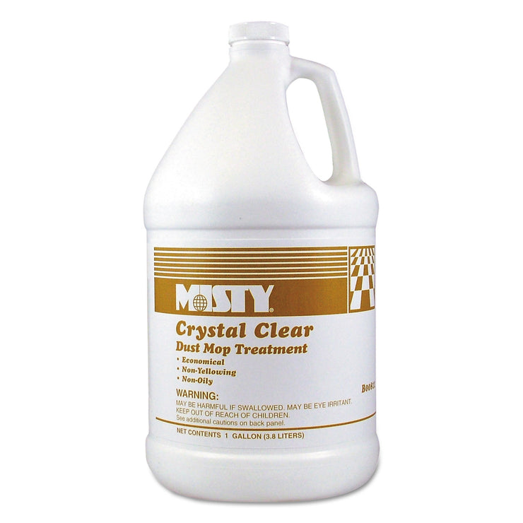 Misty Crystal Clear Dust Mop Treatment, Slightly Fruity Scent, 1 gal Bottle