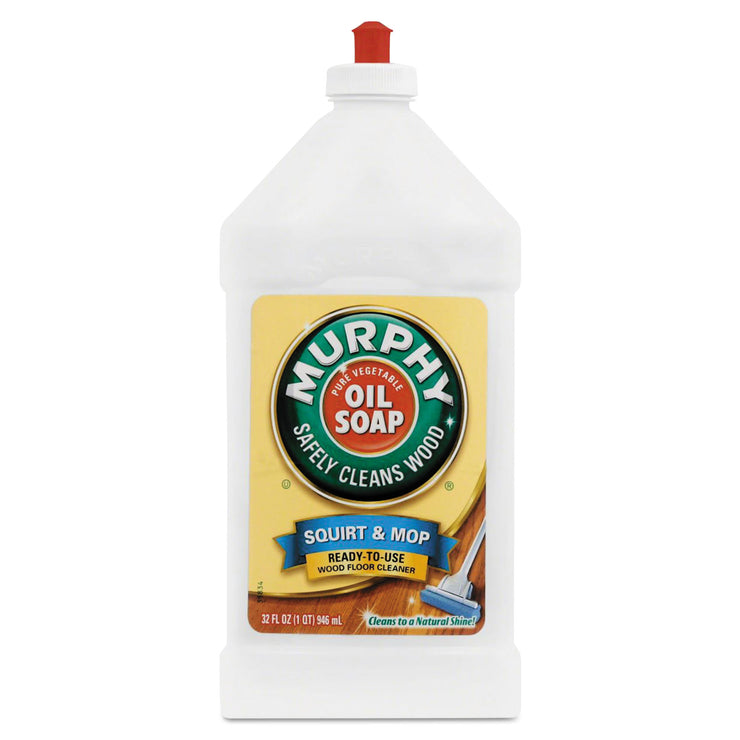 Murphy Oil Soap Squirt and Mop Floor Cleaner, 32 oz Bottle, Lemon Scent, 6/Carton