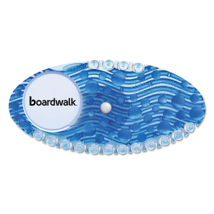 Boardwalk Curve Air Freshener, Cotton Blossom, Blue, 10/Box