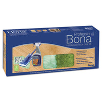 "Bona Hardwood Floor Care Kit, 15"" Head, 52"" Handle, Blue"