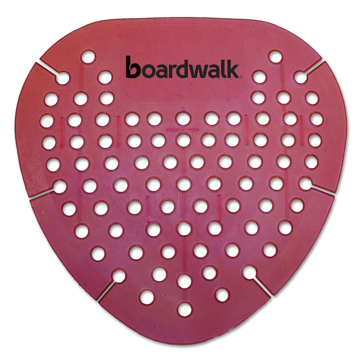 Boardwalk Gem Urinal Screen, Lasts 30 Days, Red, Spiced Apple Fragrance, 12/Box