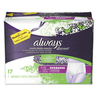 Always Discreet Incontinence Underwear, Large, Maximum Absorbency, 17/Pack