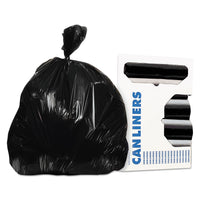 AccuFit Accufit Low-Density Can Liners, 44 gal, 0.9 mil, 37 x 50, Black, 100/Carton