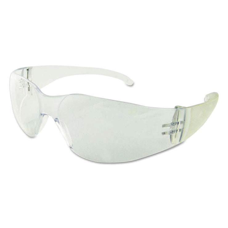 Boardwalk Safety Glasses, Clear Frame/Clear Lens, Polycarbonate, Dozen