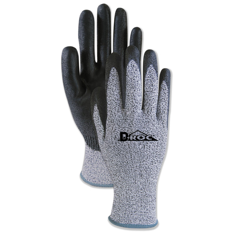 Boardwalk Palm Coated Cut-Resistant HPPE Glove, Salt & Pepper/Black, Size 8 (Medium), 1 DZ