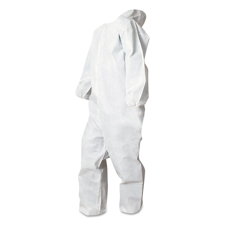 Boardwalk Disposable Coveralls, White, Large, Polypropylene, 25/Carton