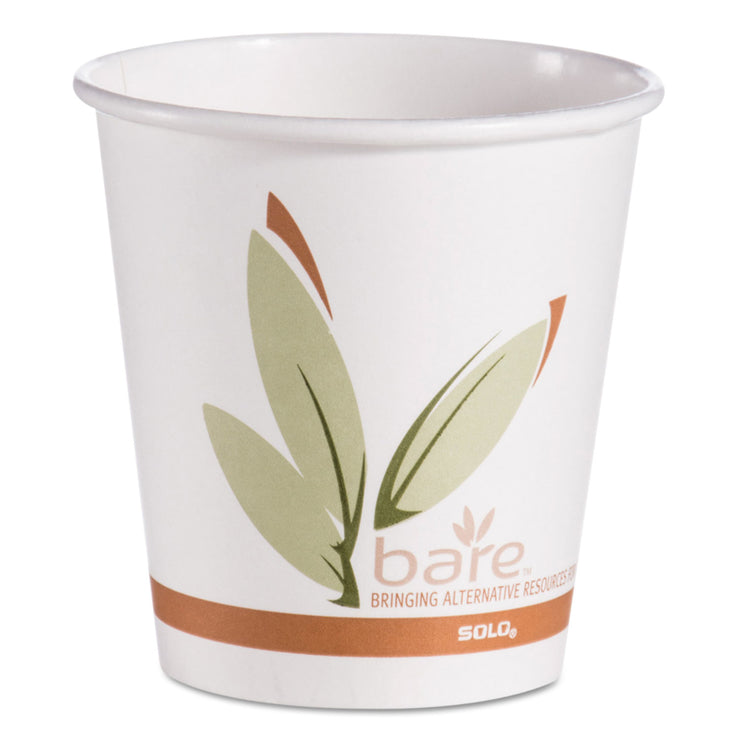 Dart Bare by Solo Eco-Forward Recycled Content PCF Hot Cups, Paper, 10 oz, 1000/Ctn