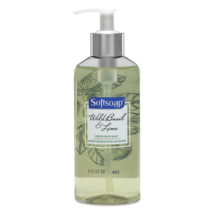 Softsoap Premium Liquid Hand Soap, Wild Basil & Lime, 8 oz Pump Bottle