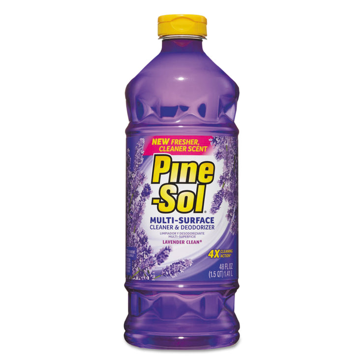 Pine-Sol Multi-Surface Cleaner, Lavender, 48oz Bottle, 8/Carton
