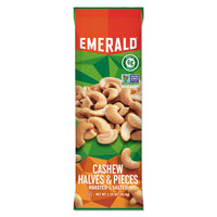 Emerald Cashew Pieces, 1.25 oz. Tube Package, 12/Box