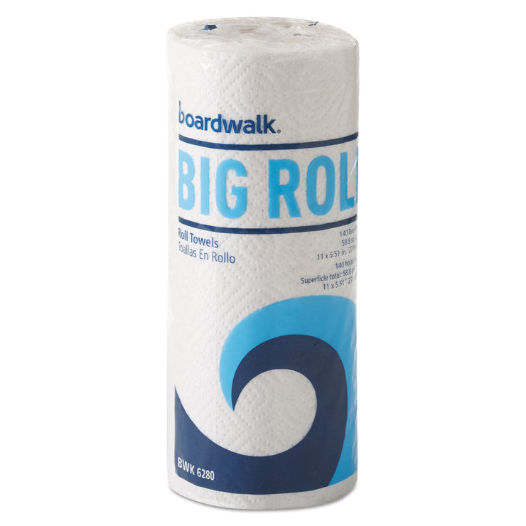 Boardwalk Office Packs Perforated Paper Towel Rolls, 2-Ply, White, 5.5