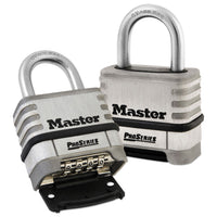 Master Lock ProSeries Stainless Steel Easy-to-Set Combination Lock, Stainless Steel, 5/16""