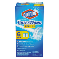 Clorox Disinfecting ToiletWand Refill Heads, 6/Pack