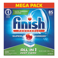 FINISH Powerball Dishwasher Tabs, Fresh Scent, 85/Box