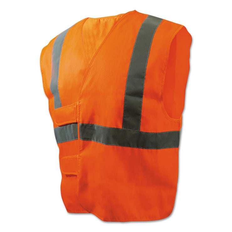 Boardwalk Class 2 Safety Vests, Orange/Silver, Standar d