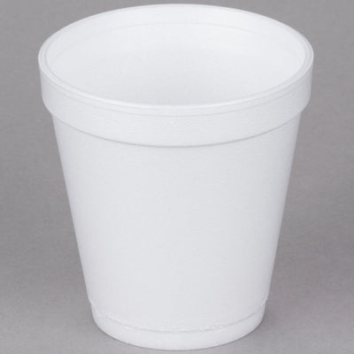 10oz WHITE SQUAT FOAM CUP 1000/CS