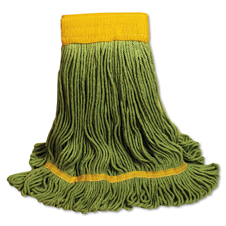 Boardwalk EcoMop Looped-End Mop Head, Recycled Fibers, Extra Large Size, Green