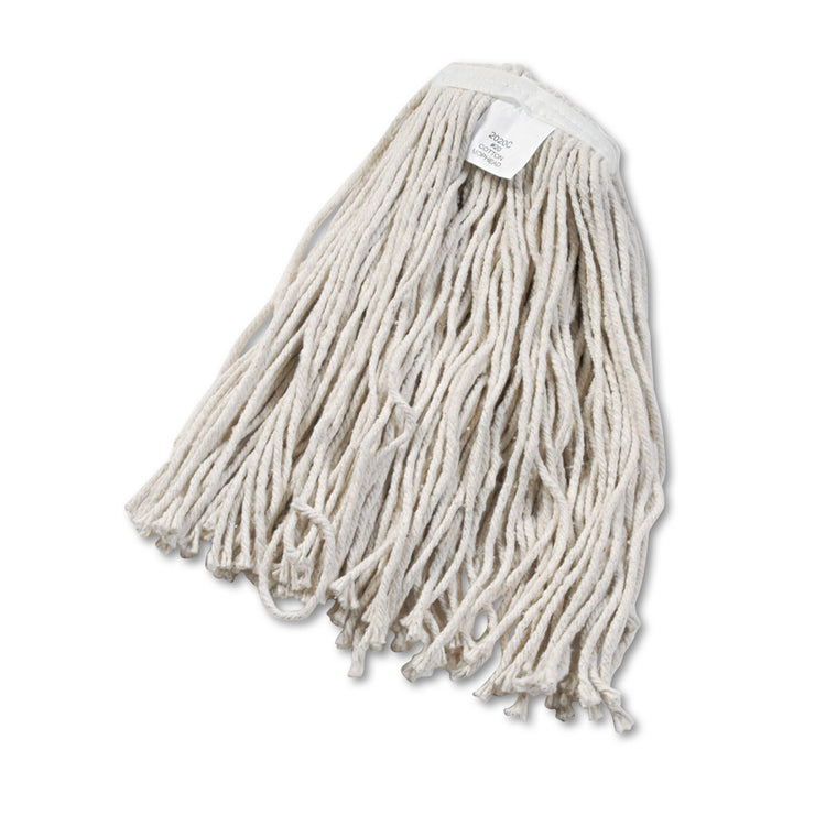 Boardwalk Cut-End Wet Mop Head, Cotton, White, #20, 12/Carton