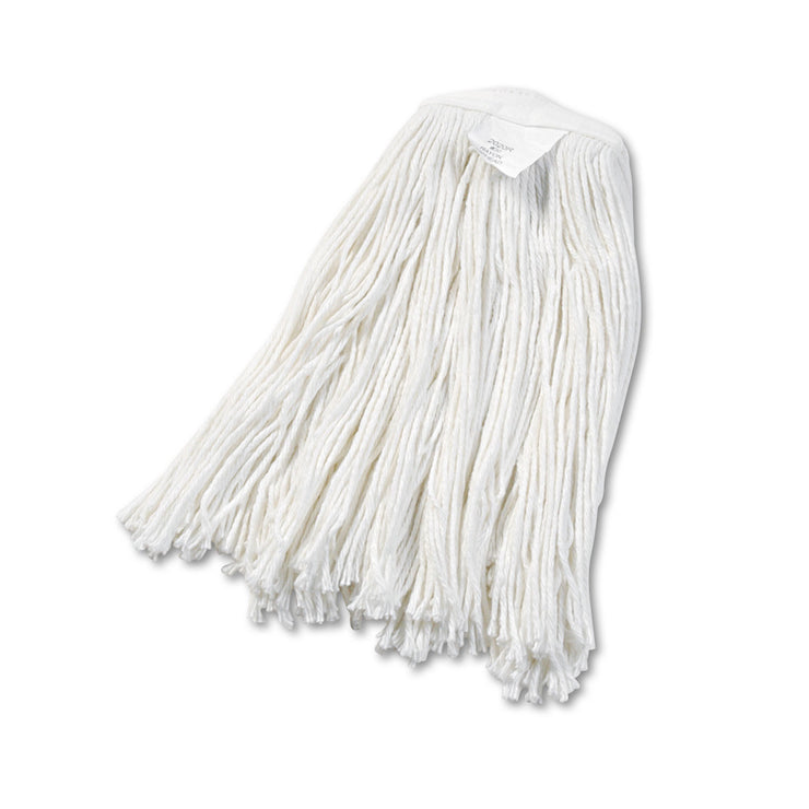 Boardwalk Cut-End Wet Mop Head, Rayon, No. 20, White, 12/Carton